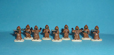STAR WARS Micro Machines - JAWAS lot - 9 figures complete set - Galoob
