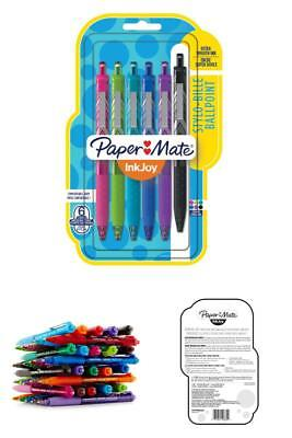 Paper Mate InkJoy 300RT Retractable Ballpoint Pens, Medium Point, Assorted, 6 Pa