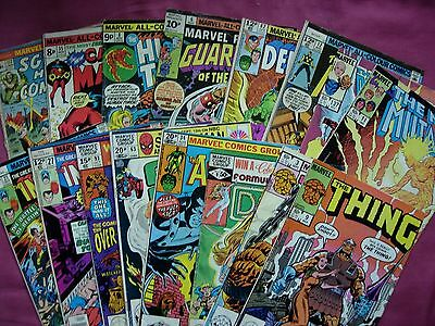 Marvel Comics Mixed bag X16 issue job lot 1974-1984 GD/FN Check out the list!