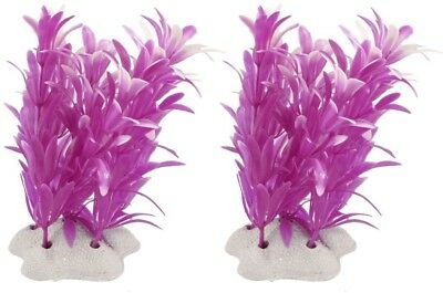 Sourcingmap Plastic Aquarium Tank Underwater Plants Ornament, Fuchsia