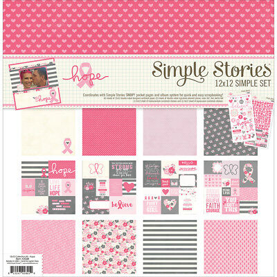 """Simple Stories Simple Sets Collection Kit 12""""X12"""" Hope SSHO2048"""