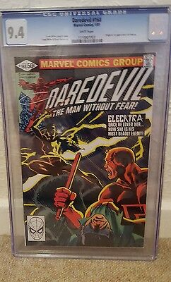 Marvel Comics Daredevil 168 CGC 9.4 First appearance and origin Elektra