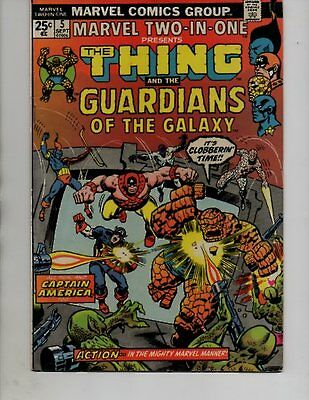Marvel Two-In-One #5 1974 - 2nd Guardians Of The Galaxy App/ Thing-VF+