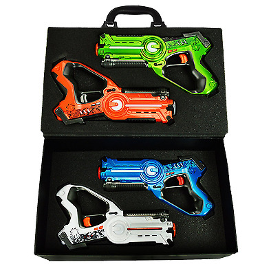 Dynasty Toys Extreme Pack 4-Player Home/Outdoor Laser Tag Set for Kids