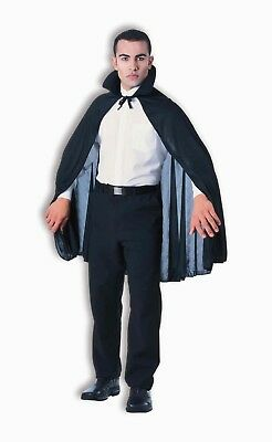 """Black 45"""" Vampire Costume Cape One Size Fits Most"""