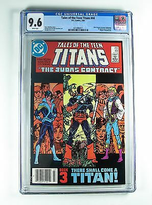 Tales of the Teen Titans 44 9.6 CGC DC 1984 Dick Grayson Nightwing 1st Jericho