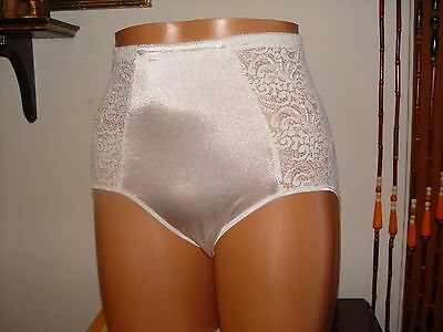 vintage panty by sears size xl second skin front and around lace white