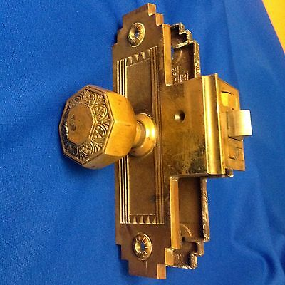 Antique Vintage SARGENT Exterior Entry Door Lockset Knob Plates Garfield Co, OK