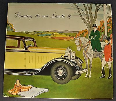 1932 Lincoln 8 Prestige Catalog Sales Brochure Excellent Original 32
