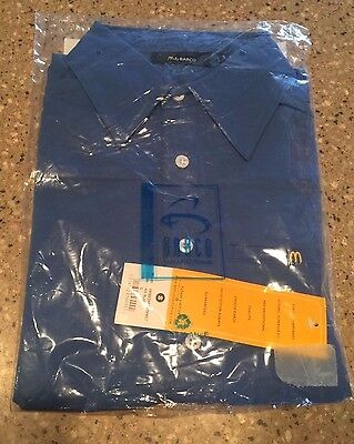 NEW McDonald's Apparel Collection Blue Employee Button Down Shirt Small NWT