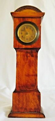 Vintage Miniature Grandfather Alarm/Desk Clock, Made In Germany.