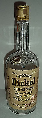 Rare George Dickel No 12 Sour Mash Tennessee TN Whiskey Bottle 4/5 QUART ~ Empty