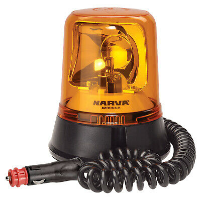 Narva 85658 Optimax 12/24V Rotating Beacon w/ Magnetic Base & Multiple Colours