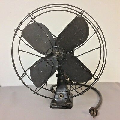 Rare 1940's Emerson Two Speed Fan Military Navy Ship Issue 78646 - BC WORKS Wall
