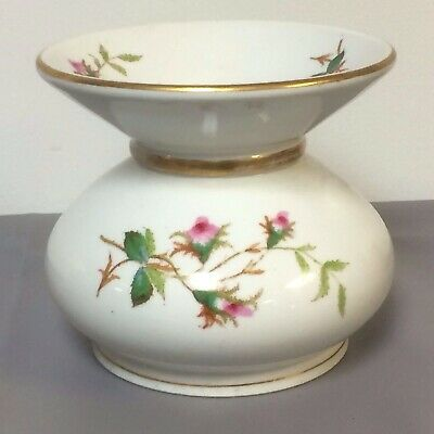 Antique Early 1800's French Porcelain Spittoon With Flower Decoration