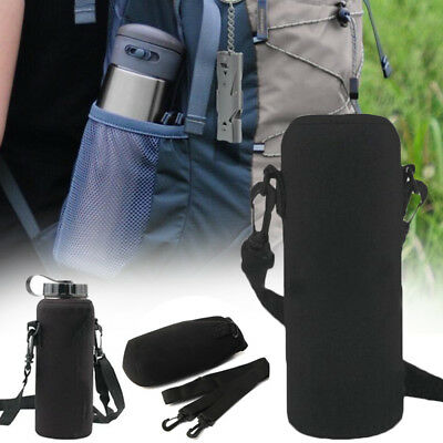 600ML Neoprene Water Bottle Shoulder Carrier Insulated Cover Holder Strap Travel