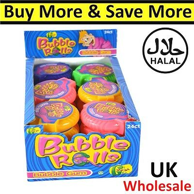 Bubble Rolls Chewing Gum Kids Sweets Fruit Chewy 336g Mega Long Tape HALAL Candy