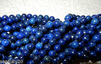 "1x6mm strand length 7.6"" Natural Lapis Lazuli Beads gemstone Round combine post"
