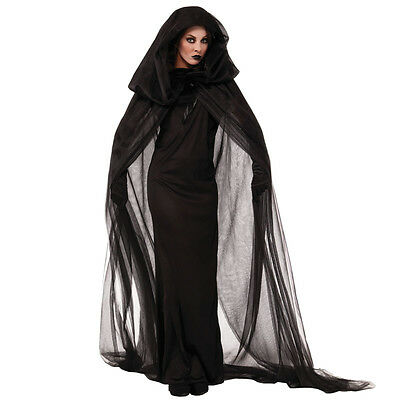 Halloween costume adult cloak witch witch black death cape vampire cosplay make-