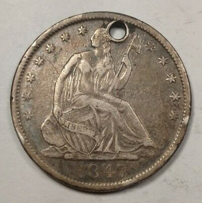 1847-O Seated Liberty Half Dollar VF Details