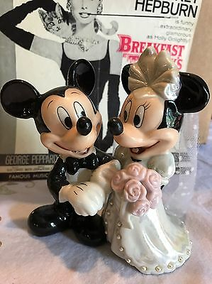 """Disney Mickey And Minnie Mouse Wedding Figurine Collectible Cake Topper 5"""""""