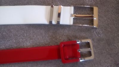 Leather Belt Size M Veronika Maine Red