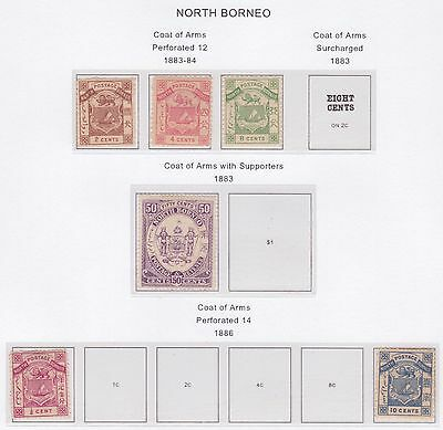 North Borneo 1883-1892 selection MH