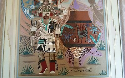 Native American Indian sand painting signed Silversmith