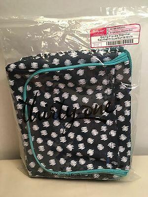 Thirty-One Going Places Thermal - Navy Doodle Dot - NEW!