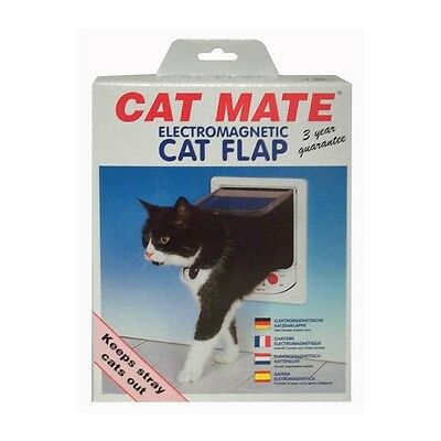 PET MATE Chatiere électronique 254W - Blanc - Pour chat