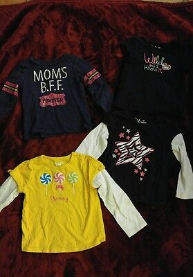 Girls 4T Lot Super Cute Shirts 4 Pieces Jumping Beans Carters Yellow Black