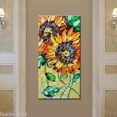 CHENPAT332 100/%  hand-painted wall decor art sunflower oil painting on canvas