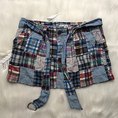 Women's American Eagle Skirt  Patchwork  Mini Short Size 2