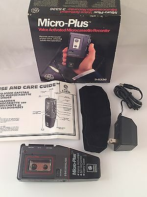 Ge Micro Plus Voice Activated 3-54336 Cassette Recorder  Tested
