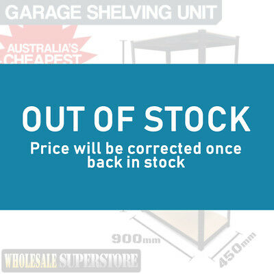 Garage Boltless Shelving Unit - 5 UNITS - Steel Warehouse Office Storage Racking