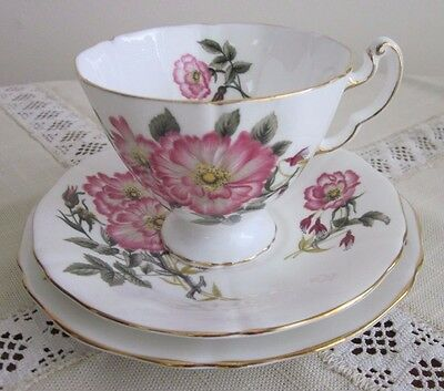 Adderley Fine Bone China England, Trio, 1789 Crown, Excellent Condition
