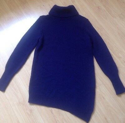 Ladies Roll Neck Navy Blue Jumper M&Co Size 12 BRAND NEW