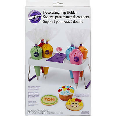Wilton Decorate Smart Decorating Bag Holder, Holds 6 Icing Bags & 6 Flower Nails