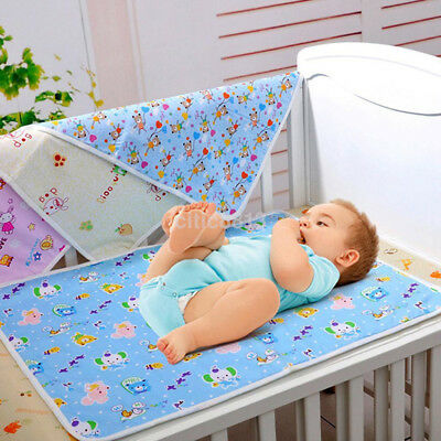Baby Infant Kids Diaper Nappy Urine Mat Kid Waterproof Changing Cover Pad UK