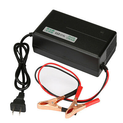 Black 12V 8A Smart Fast Lead-acid Battery Charger For Car Motorcycles Trucks