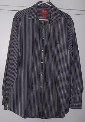 *NEW* RM WILLIAMS Brown Striped COTTON l/s SHIRT sz M Longhorn Cowboy Western
