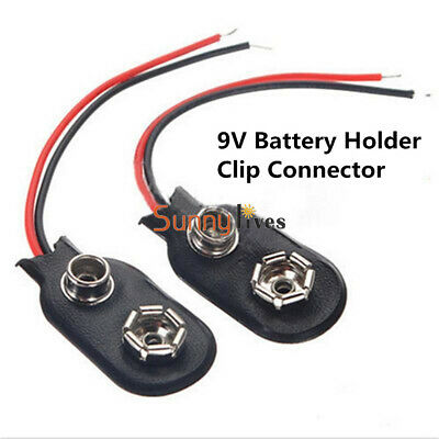 10PCS  MN1604 9V PP3 9volt Battery Holder Clip Snap On Connector Cable Lead