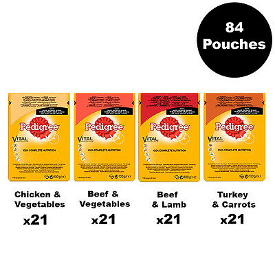 Pedigree Adult Dog Pouches Mixed Selection in Gravy 84 x 100g Dog Food