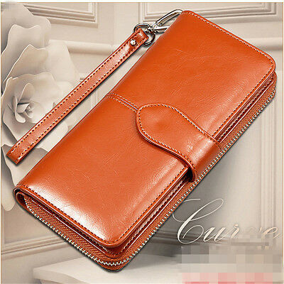 USA Fashion Lady Women Leather Clutch Wallet Long Card Holder Case Purse Handbag