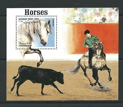 Afghanistan 1999 Horses Mnh