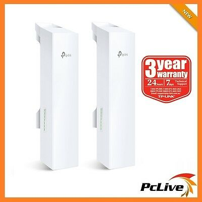 2x TP-Link CPE520 5GHz 300Mbps Outdoor Wireless Access Point 16dBi Antenna POE
