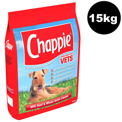 Chappie Complete with Beef and Wholegrain Cereal 15kg Dry Dog Food Dog Biscuits