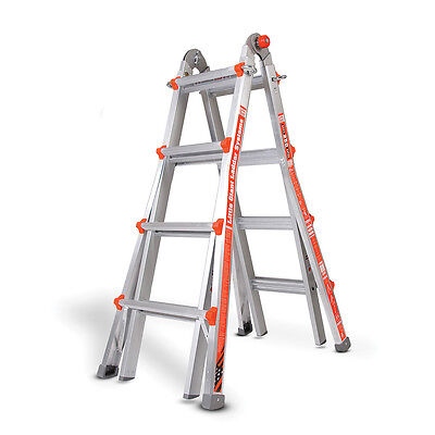 Little Giant Alta-On Aluminium Ladder, Versatile Telescopic Multi-Purpose Ladder