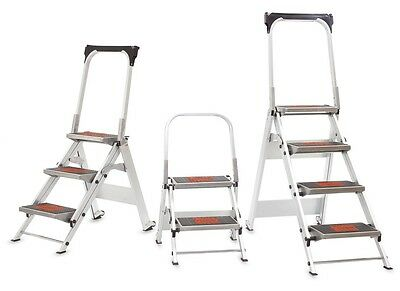 Little Giant Safety Steps - Industrial Aluminium Step Ladder w/ Anti-Slip Treads