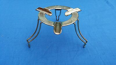 Unusual EPNS silver plate folding tripod ashtray top turns anything into ashtray